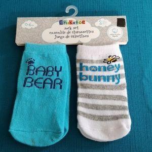 Bear and Honey themed sock set